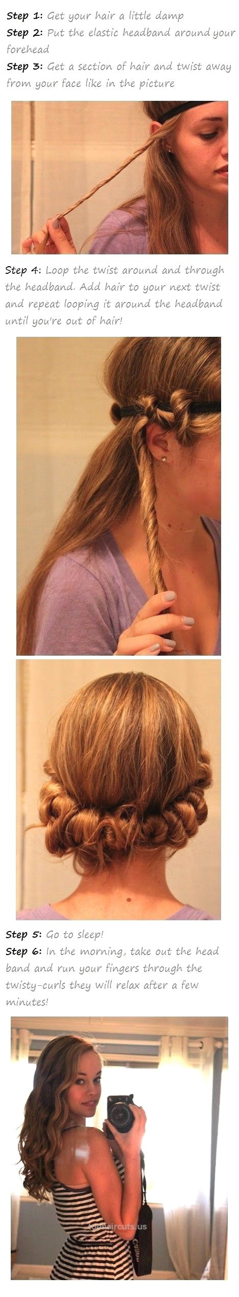 DIY No Heat Curls -15 Tutorials for Curl Hair without Heat  – Styles Weekly A photo guide to easy-to-do (especially on chaotic mornings!) back-to-school hairstyles for children.I can't wait until Beans has hair this long a ..  http://www.tophaircuts.us/2017/05/03/diy-no-heat-curls-15-tutorials-for-curl-hair-without-heat-styles-weekly/