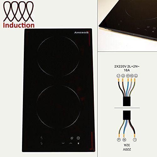 Arebos Double Plaque de Cuisson à Induction Cuisinière 2 Foyers: 2 de la zone de cuisson de autonomes induction Boîtier en acier inoxydable…