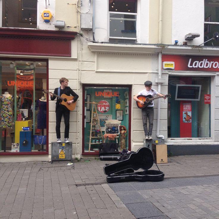 Un peu de musique dans les rues de Galway