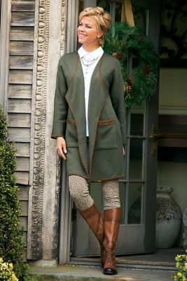 Love this super comfy looking fall outfit and Love the hair.  Soft Surroundings.com