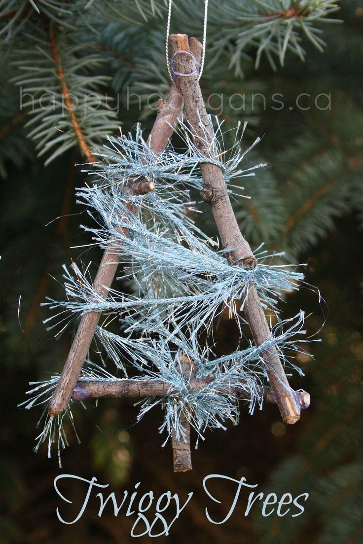 how to make a christmas twig tree