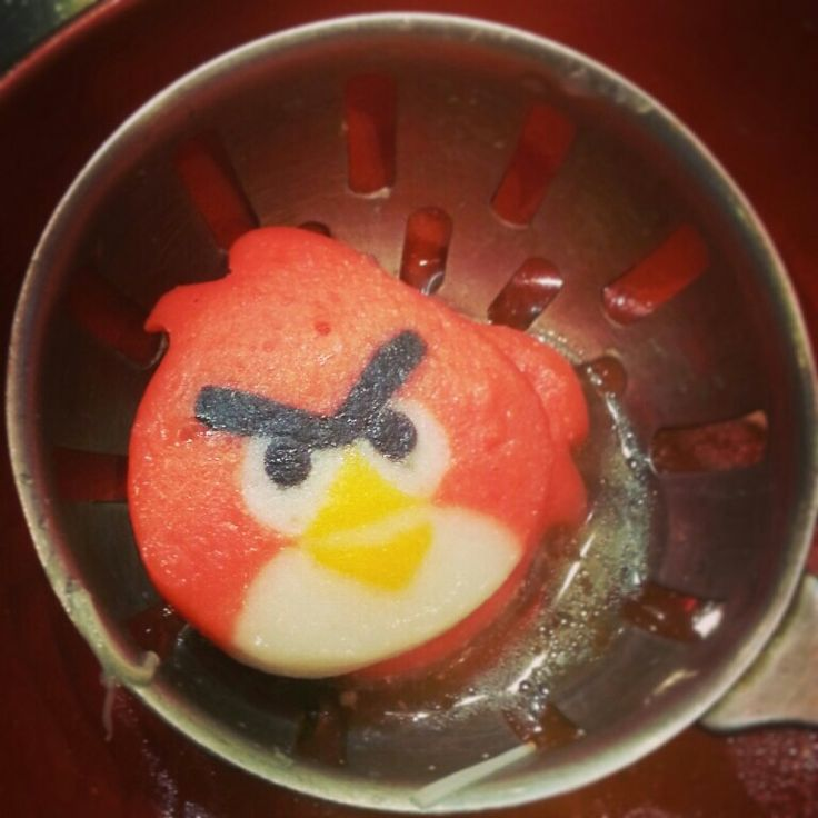 Fish ball in angry bird looks ...#shabushi oishi