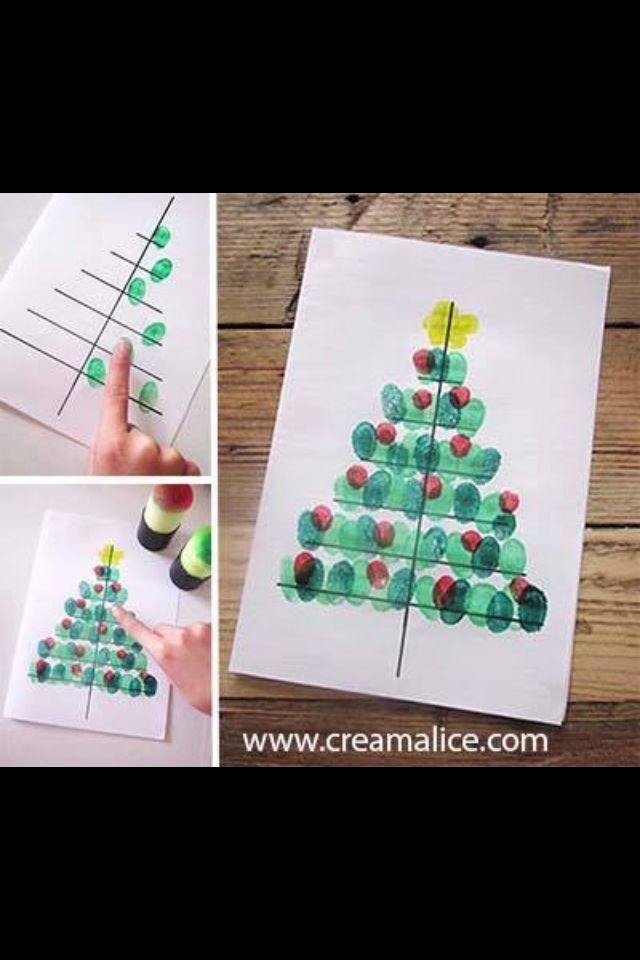 Christbaum mit Fingerabdrücken