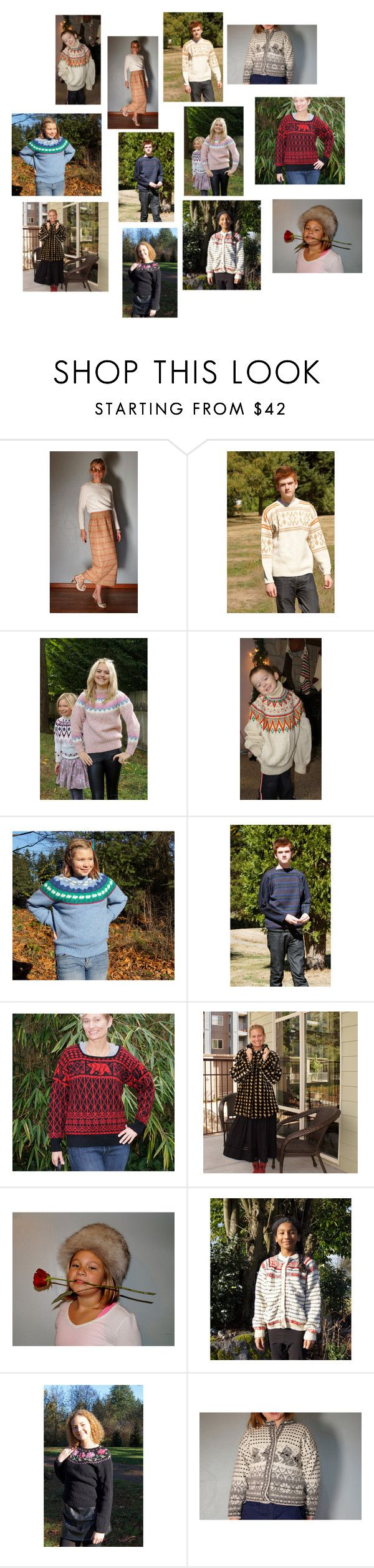 """Winter Sweater, Winter Sale, Monday Heart Blitz"" by starshinevintage ❤ liked on Polyvore featuring Pendleton, Dale of Norway and vintage"