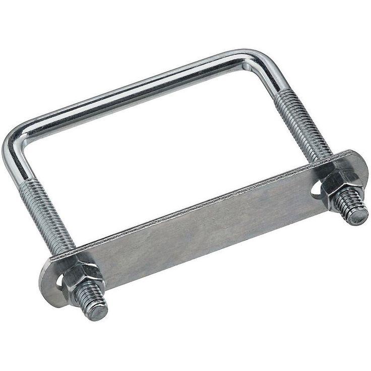 "National Hardware N244-996 Lumber Size Square U Bolt, Steel (Silver), Zinc-Plated, 3-5/8"" W x 4"" L"