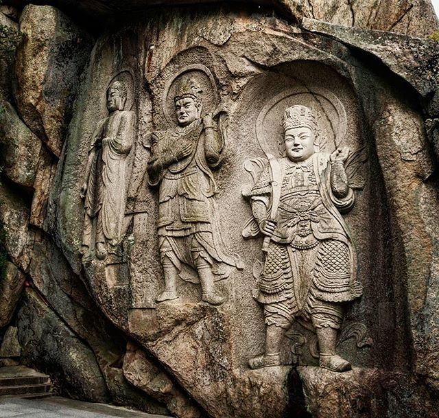 #buddhist #figures #carved in the #rock in #seokbulsa #temple. One hour #hike in #geumang #park to get to this temple but it worth it! #buddhism #seokbulsatemple #seokbul #seokbultemple #geumgangpark #busan #pusan #korea #southkorea #asia #asianescape #travel #holiday #holidays #koreantrip #asiantrip