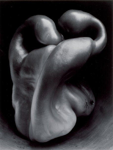 Edward Weston, pepper #30, 1930 if you look carefully this is on the wall in the Iron man film