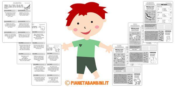 Schede sugli Animali in Inglese per Bambini da Stampare