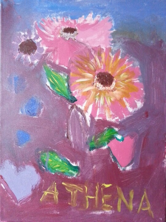 My favorite flower - oil painted by athena