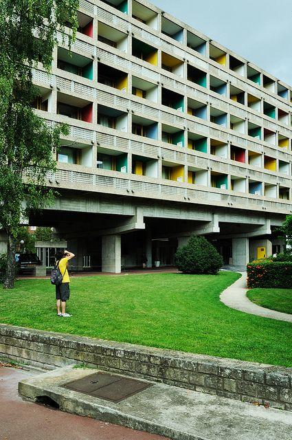 Maison du Brésil/ Student Housing. Paris, France. 1958. Lucio Costa, Brazilian architect & Le Corbusier.