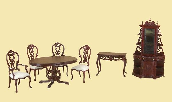 Dollhouse Dining Room Furniture Sets