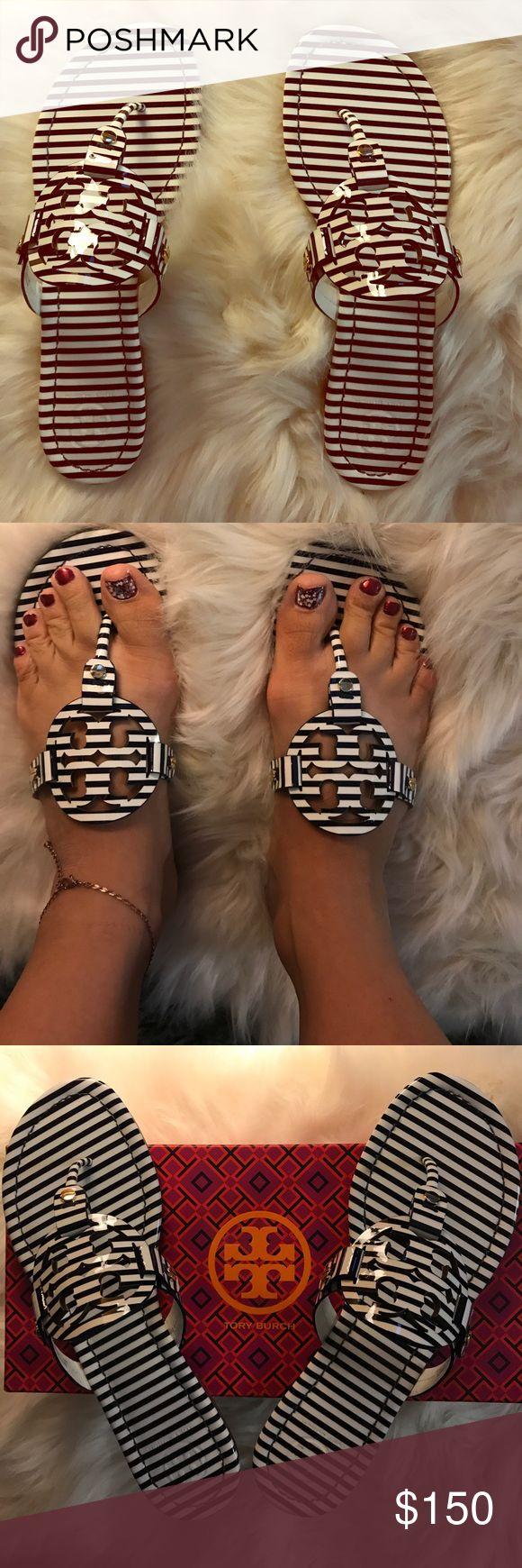 Tory Burch Nautical Sandals 💥Brand New in box💥 stunning Tory sandals Tory Burch Shoes Sandals