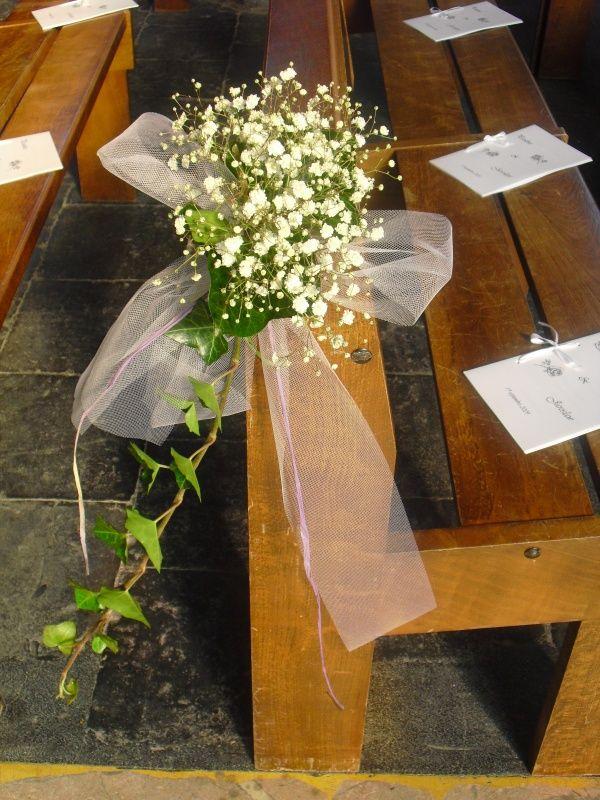 """Mariage 10 - Bouquets de bancs d'église - """"A la fleur qui parle"""" - Fleuriste à Tourcoing"""