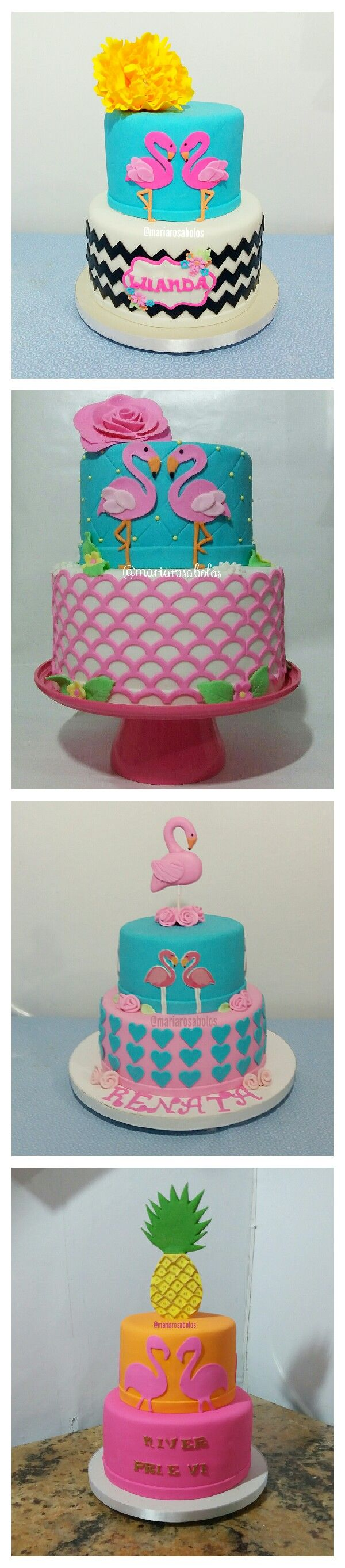 Flamingos cake Bolo de Flamingos #flamingocake