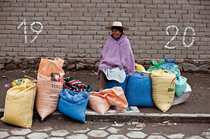 Mercado de quinoa en Challapata - Bolivia