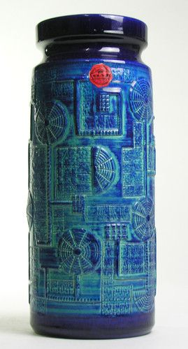 Bay Keramik West German Pottery Modern Mid Century Vintage LARGE FLOOR VASE