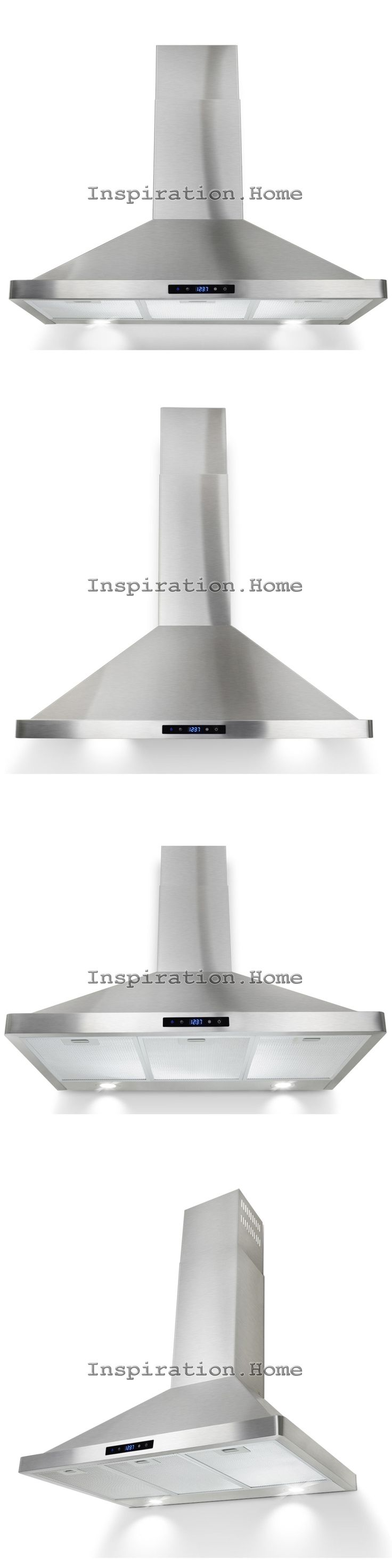 Major Appliances: 36 Wall Mount Stainless Steel Range Hood Touch Panel Modern Stove Vent Kitchen -> BUY IT NOW ONLY: $149.99 on eBay!