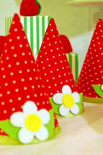 strawberry party hats   # Pin++ for Pinterest #