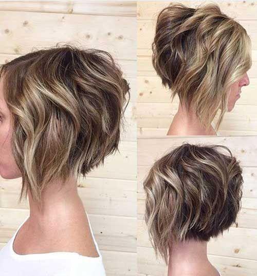 Wavy Short Hair Style