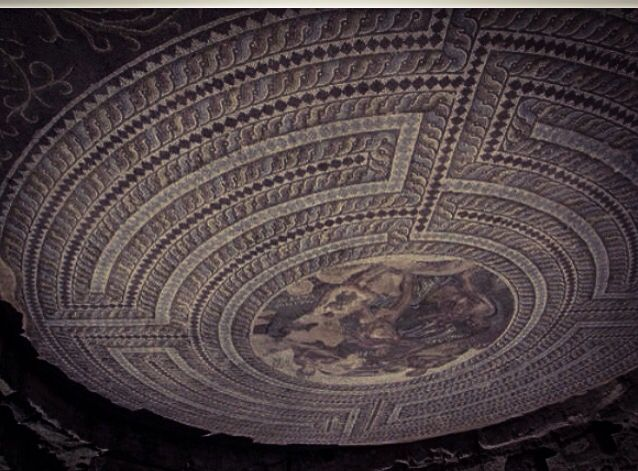 JOJO POST STAR GATES: IF WE LOOK REVERSE AT THE LABYRINTH WHAT DO WE SEE? WHAT DO YOU THINK? WHAT DO WE KNOW? Church floor.