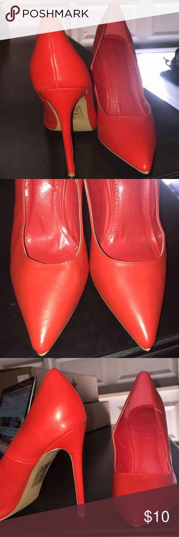 Red high heels Red fashionable court shoes, 5inchs Shoe Republic LA Shoes Heels