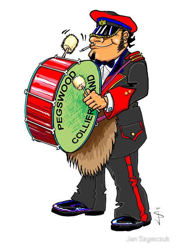 Brass Band - Big Drum Player by Jan Szymczuk