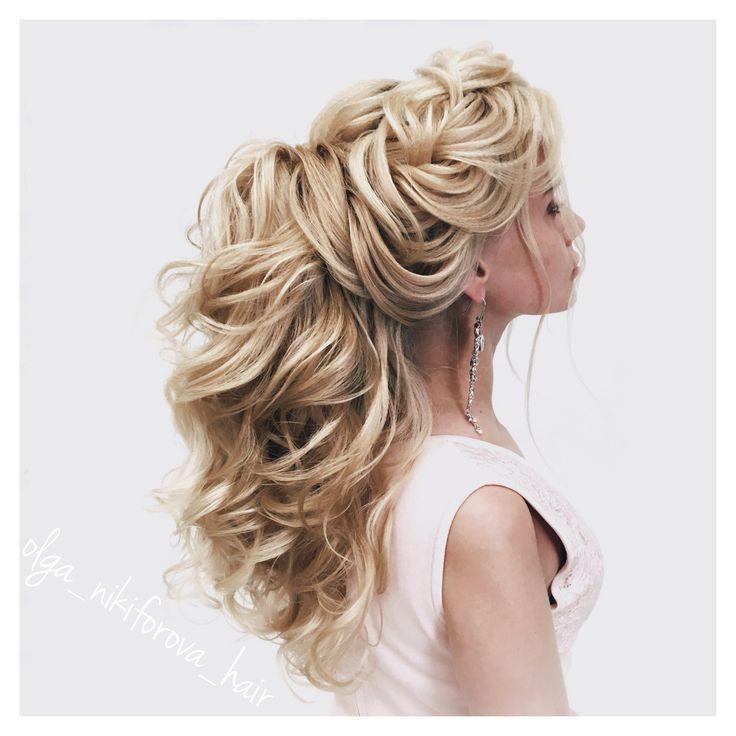 olga_nikiforova_hair прическа объёмный хвост, свадебная прическа, прическа на выпускной, прическа невесты, прическа с плетением, объёмная коса