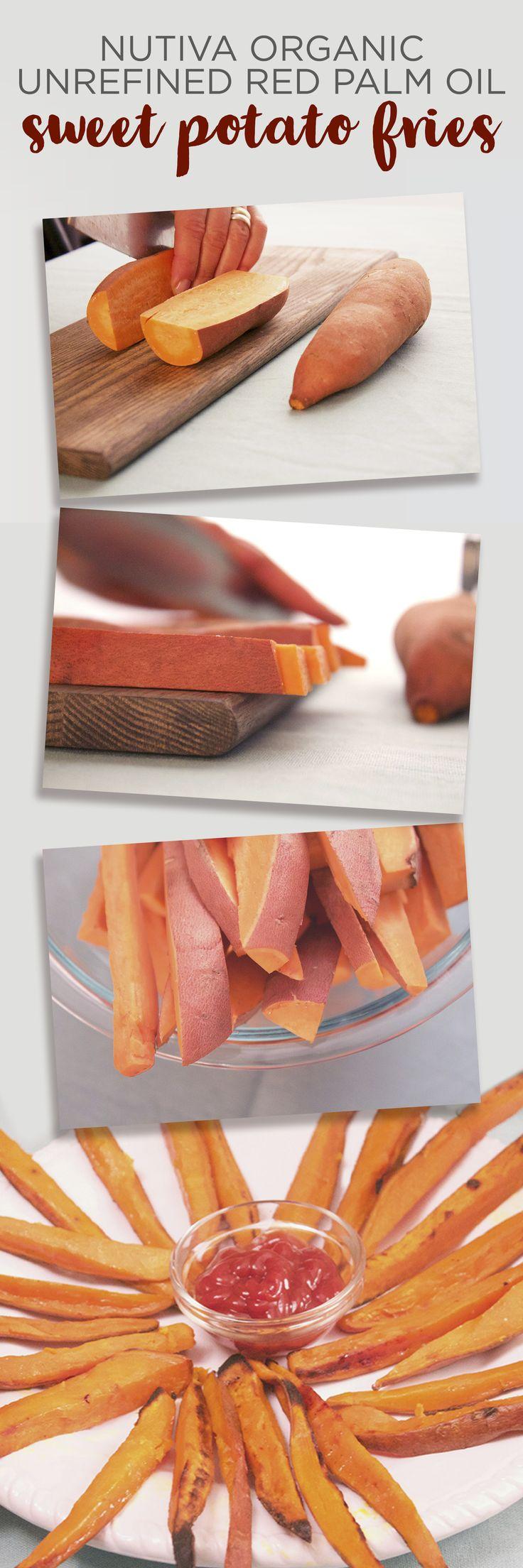 Red Palm Oil Sweet Potato Fries kitchen.nutiva.com