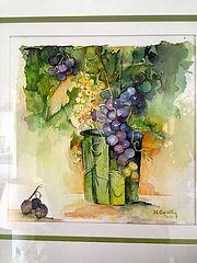 Aquarelle viticole. Henriette Capretti
