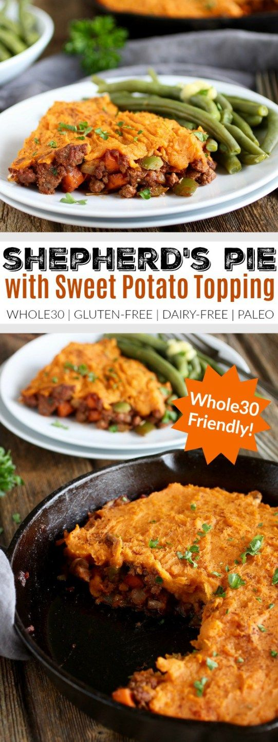 Shepherd's Pie with Sweet Potato Topping | whole30 recipe ideas