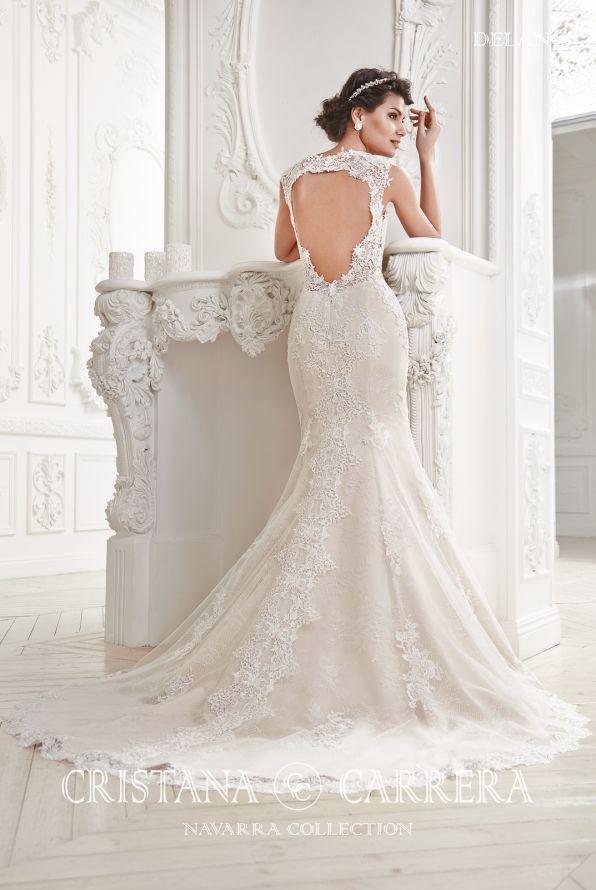 "Wedding Dress ""Delano"" Cristana Carrera"" available in off white color, size 40UK TEL.+27(0) 215564880"