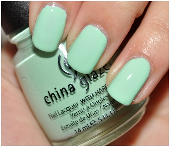 China Glaze Up  Away Collection: Re-Fresh Mint Nail Lacquer Review, Photos, Swatches