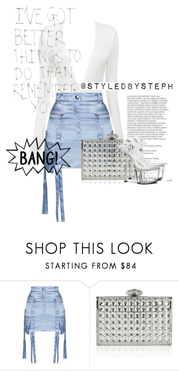 """""""pleaser platforms"""" by iluvniecce on Polyvore featuring Balmain, Topshop, Judith Leiber and Pleaser"""