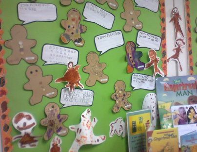 The Gingerbread Man Display, classroom display, class display, Story, reading, gingerbread man, fox, eat me, Early Years (EYFS), KS1& KS2 Primary Resources