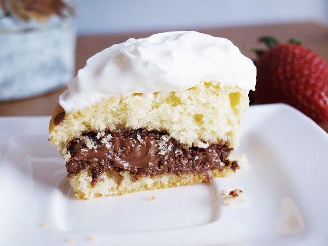 Karmelowy Talerz: Muffinki z nutellą