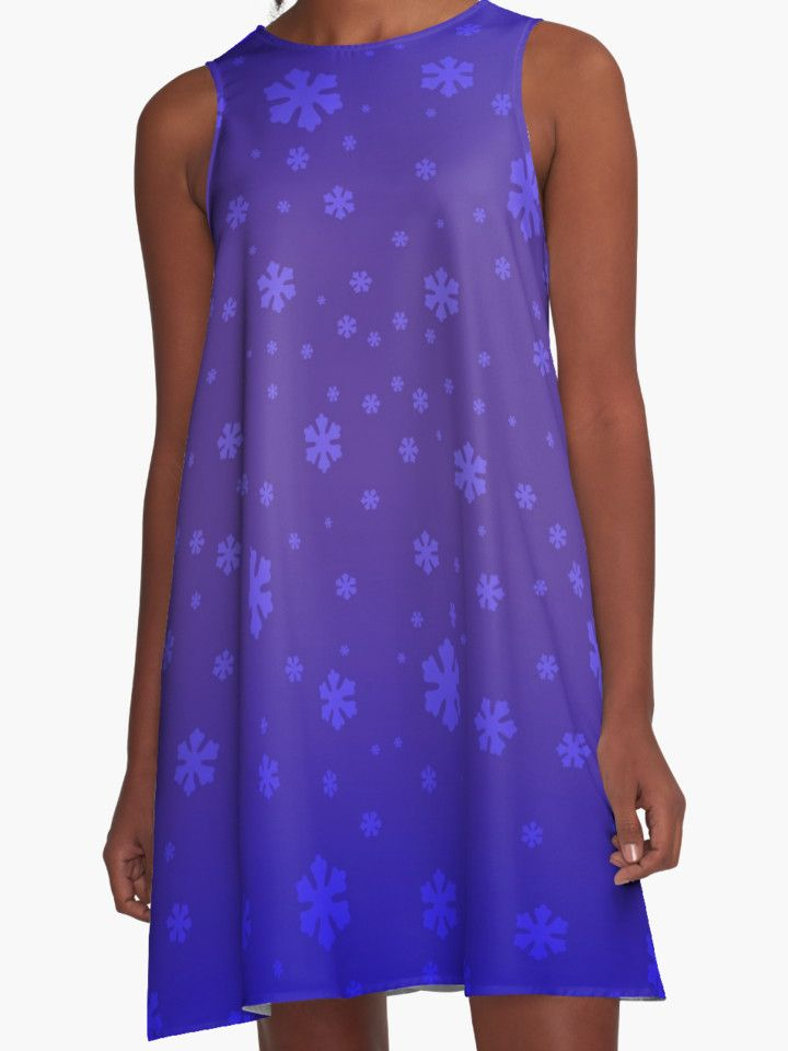 Snowflakes A-Line Dress  by emilypigou #snowflakes  #christmasdress #xmasdress #xmas #stars #christmas #christmasgifts #giftsforchristmas #christmasevestars #buychristmasdress #womensfashion #clothing #gifts #onlineshopping  #giftsforher #cute #clothinggifts #redbubble #emilypigou