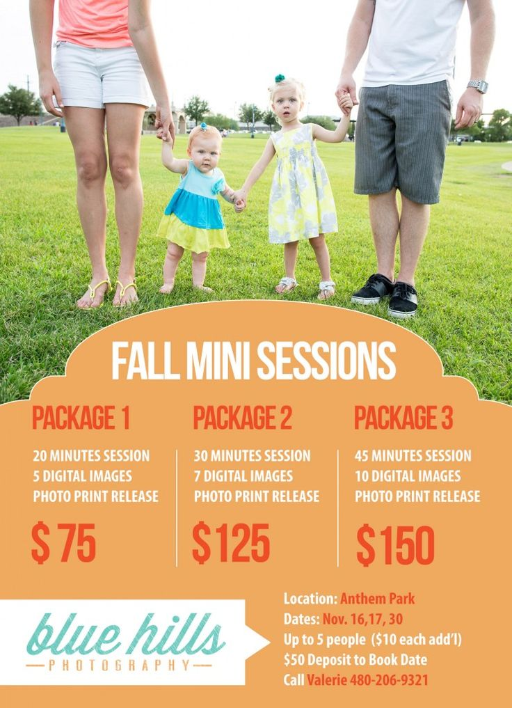 Fall Mini Sessions – Anthem Park » Phoenix, Arizona Nov. 16, 17, and 30th Call Valerie 480-206-9321 to reserve your spot today– Blue Hills Photo