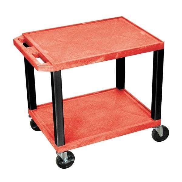 office rolling cart.  cart red shelves black legs teachers rolling cart office storage multipurpose  inside