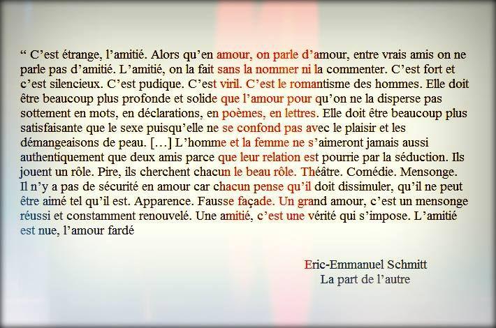 """Eric-Emmanuel Schmitt, """"La part de l'autre"""""""