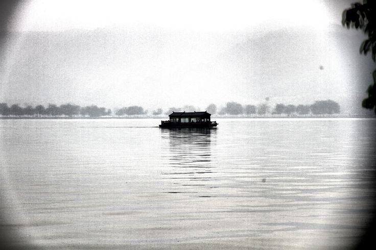 The boat in westlake, Hangzhou.