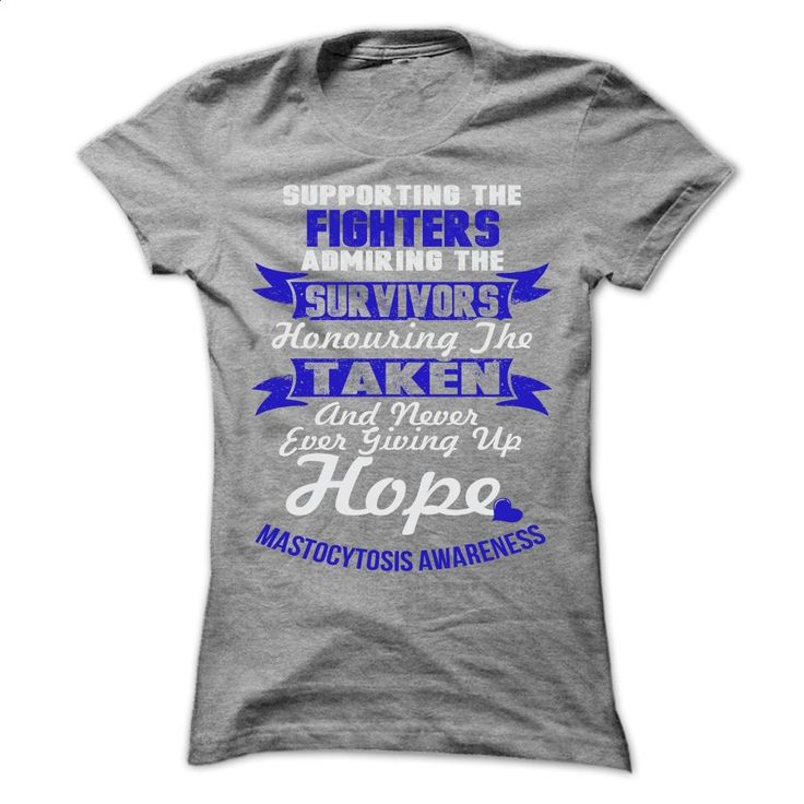 Support Mastocytosis T Shirts, Hoodies, Sweatshirts - #fleece hoodie #cool tshirt designs. PURCHASE NOW => https://www.sunfrog.com/LifeStyle/Support--Mastocytosis-4534-SportsGrey-57842427-Ladies.html?60505
