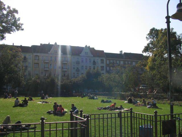Boxhagener Platz, the picturesque heart of Friedrichshain life.