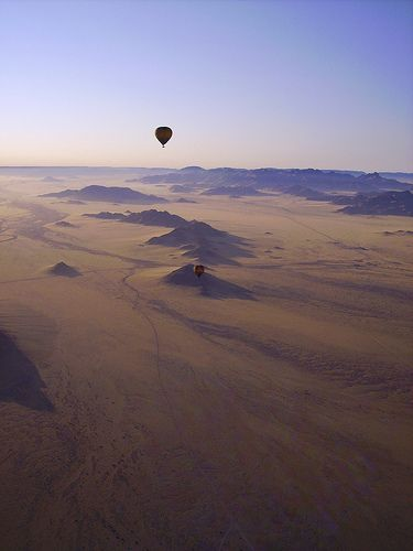 The least densely populated country on earth - Namibia
