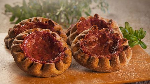 "A Finnish delicacy from Kainuu called ""rönttönen"". It is open faced pie, filled with lingonberry."