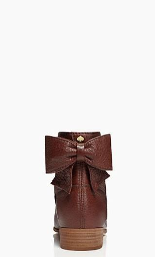 Kate Spade Bow Leather Boots