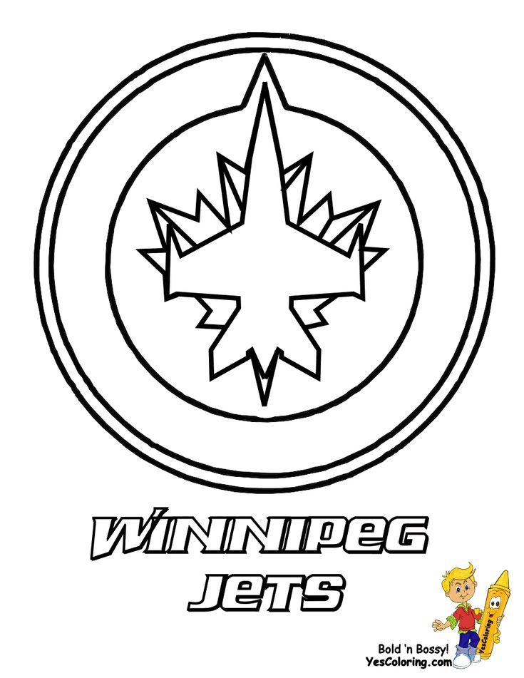 14 best NHL images on Pinterest - best of jets hockey coloring pages