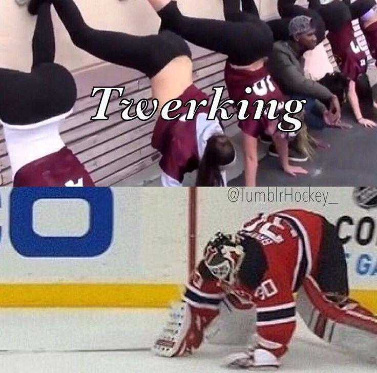 Martin Brodeur twerking??? #Hockey #Humor #Devils