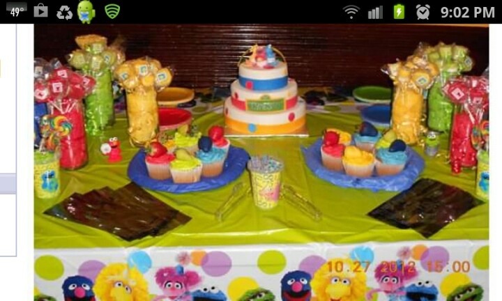 Sesame street baby shower candy buffet i did for my friend baby shower ideas pinterest - Sesame street baby shower ...