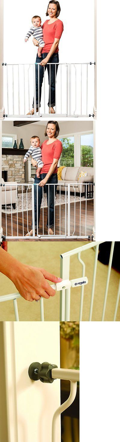 Baby Safety and Health 20433: Openbox Regalo Easy Open 50 Inch Wide Baby Gate, Pressure Mount With 2 Included -> BUY IT NOW ONLY: $39.1 on eBay!