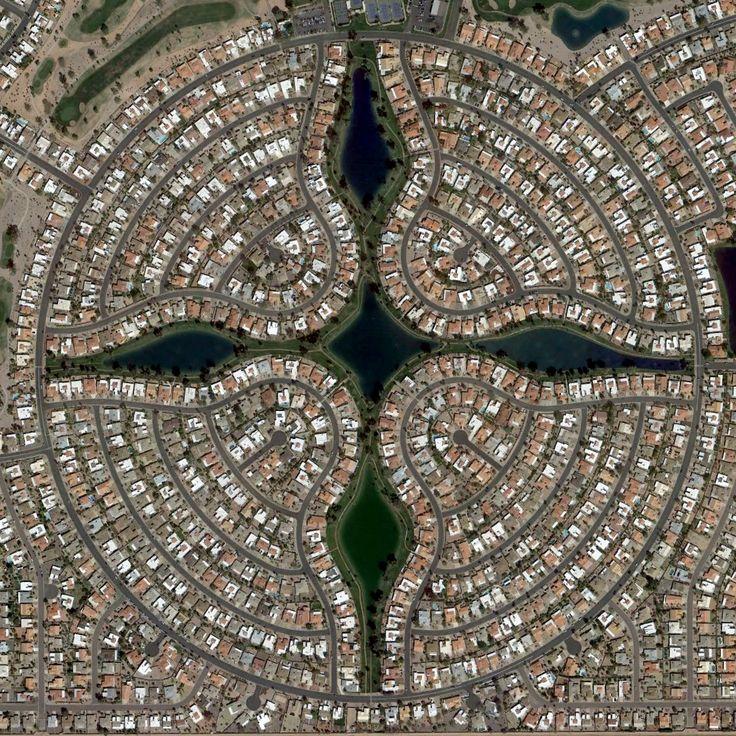 Aerial view of Sun Lakes, Arizona